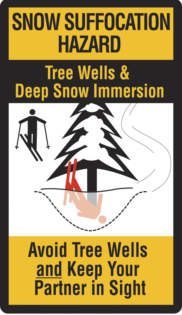 Tree well safety poster